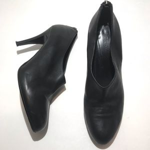 J. Crew black leather ankle boots